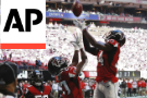 Ball finally bounces their way, Falcons beat the Bucs 34-29