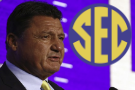 The Latest: Ed Orgeron, LSU facing championship expectations yesterday