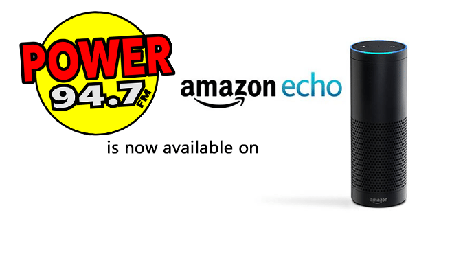 Enable the Power 94.7 skill on your amazon Echo