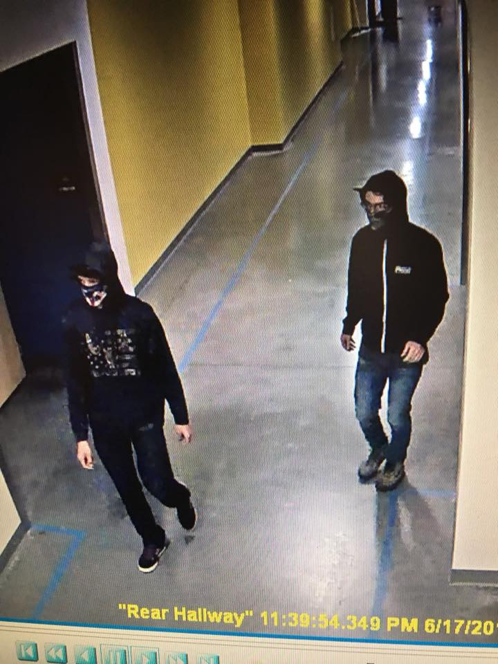 YCPD NEEDS YOUR HELP IDENTIFYING TWIN RIVERS VANDALS