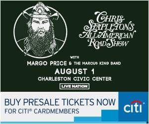 Chris Stapleton @ Charleston Civic Center Aug. 1st, 2019