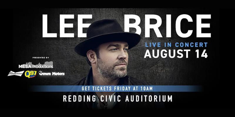 LEE BRICE AUGUST 14TH!