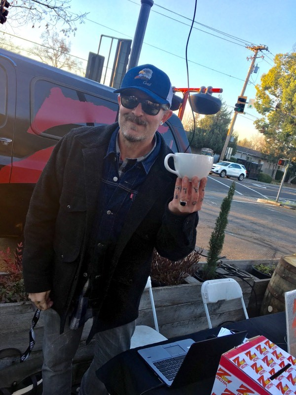 Tim Buc Moore from 106.7 Z-Rock shows his favorite morning ritual at Coffee Ranch in Chico