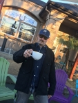 Tim Buc Moore starts to get a little twitchy from his morning Joe at Coffee Ranch in Chico