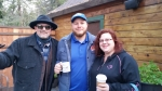 Tim Buc Moore and Z-Rockers rocking out with their coffee out at Wake the Buc Up round 2 in Paradise at Juice and Java