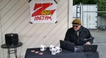 106.7 Z-Rock sets up shop for Wake the Buc Up in North Chico at Fresh Twisted Cafe
