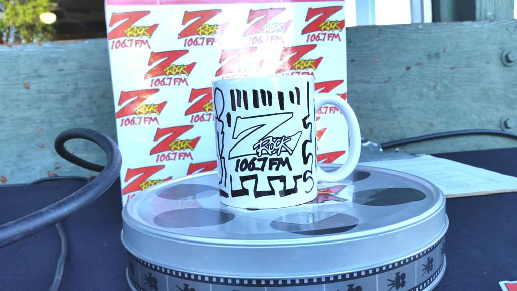 Tim Buc Moore's live morning show tour of Butte County, Wake the Buc Up Doodle Mug at the Donut Nook in Chico June 28th 2018