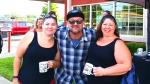 Tim Buc Moore and listeners at Jeff's California Cattle Company in Redding for Wake the Buc Up on August 23rd 2018
