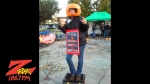 Pumpkinhead 2014 in downtown city plaza in Chico California October 25th 2014