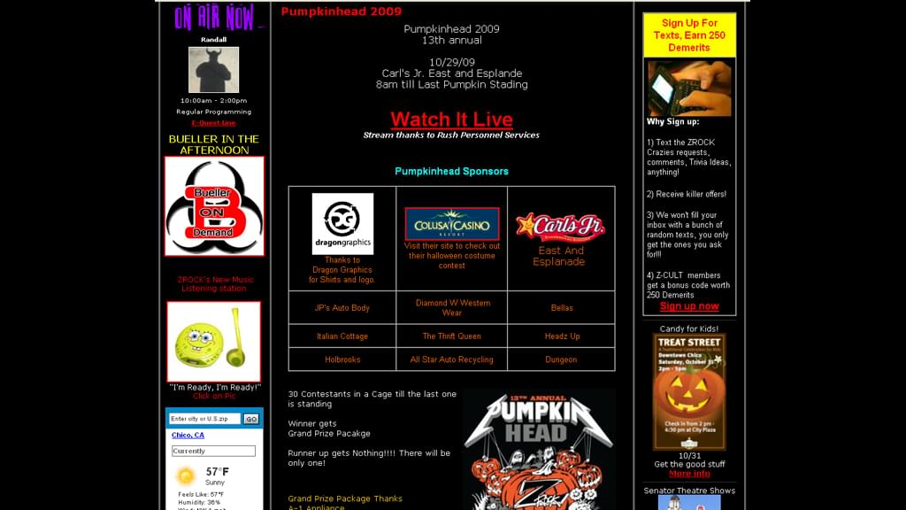 From Pumpkinhead 2009 in Chico California on 106.7 Z-Rock