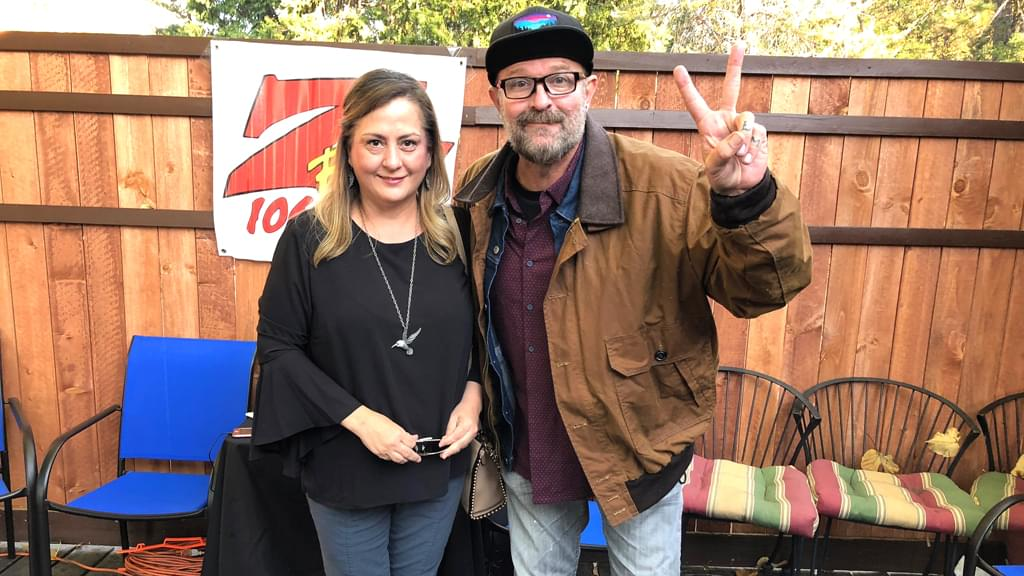 Tim Buc Moore's live morning show tour of Butte County, Wake the Buc Up with listener at Juice and Java in Paradise October 11th 2018