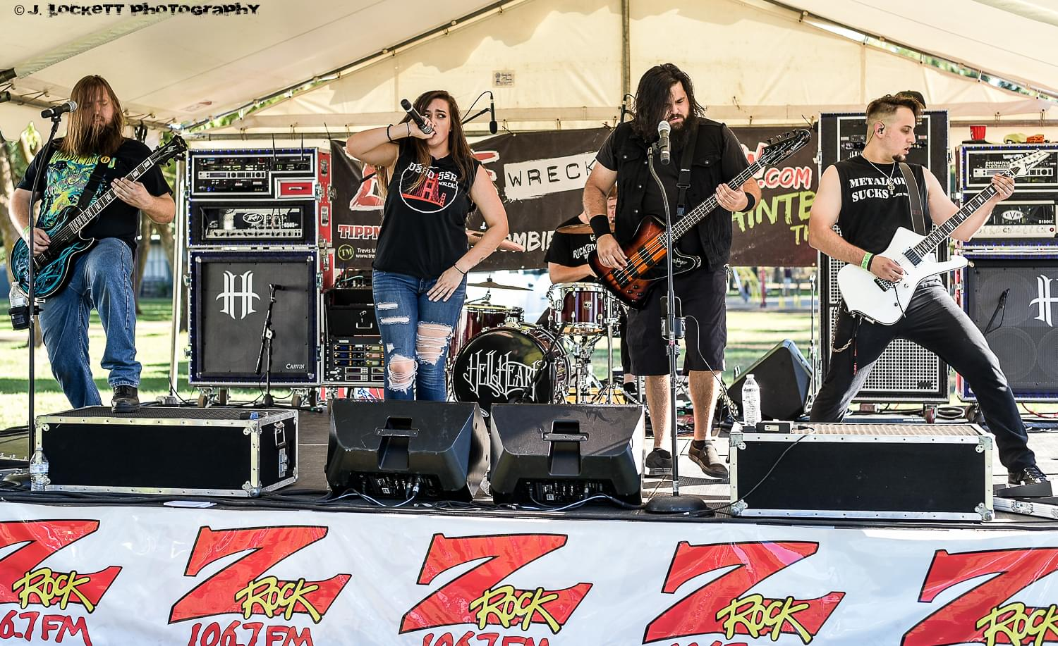 Manteca California based metal band HellHeart plays 106.7 Z-Rock's Pumpkinhead at Manzanita Place in Chico California October 20th 2018