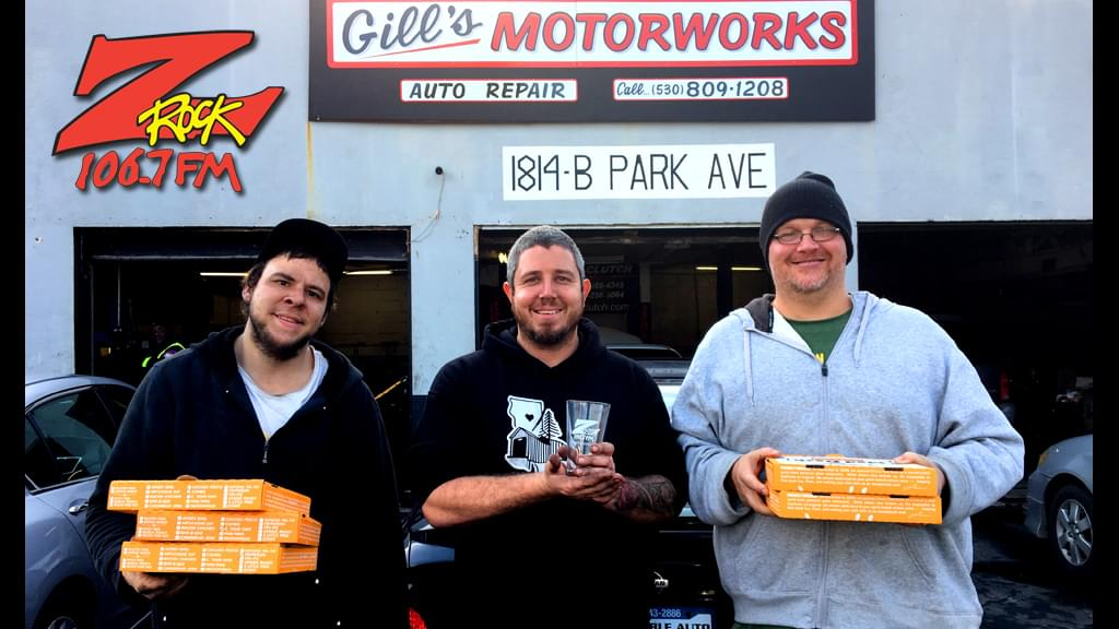 Tim Buc Moore with winner at Gill's Motorworks in Chico for the Z-Rock Munch Box