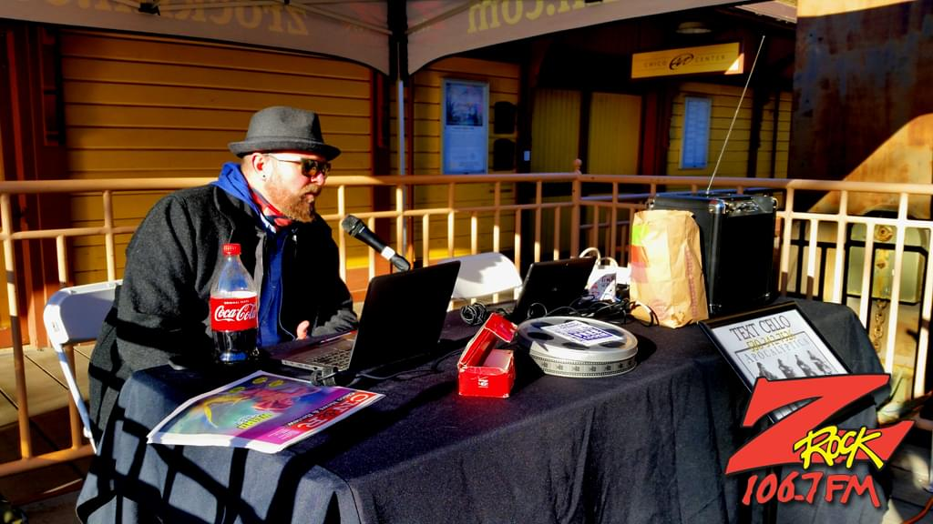 Tim Buc Moore takes the mic during Wake the Buc Up 2019 (sponsored by Riley's) at Great Northern Coffee in Chico 2/21/19