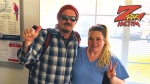Tim Buc Moore with winner at Davita Dialysis in Chico for the Z-Rock Munch Box