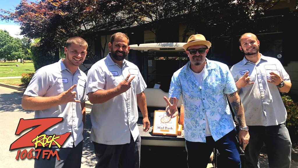 Tim Buc Moore with winners from Glen Oaks Memorial Park for the Z-Rock Munch Box