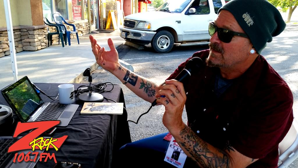 Time Buc Moore at Wake the Buc Up 2019, broadcasting live from 15th Street Cafe in Chico