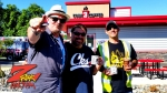 Tim Buc Moore with listeners at Code 3 Coffee in Chico for Wake the Buc Up on 106.7 Z-Rock