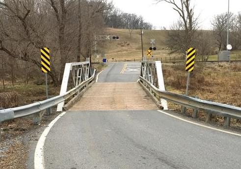 Bush Creek on Reichs Ford Road Closed