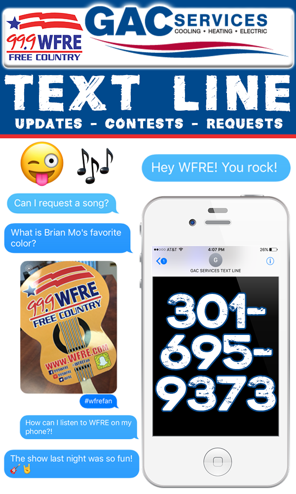 Title Image for WFRE Texting Page