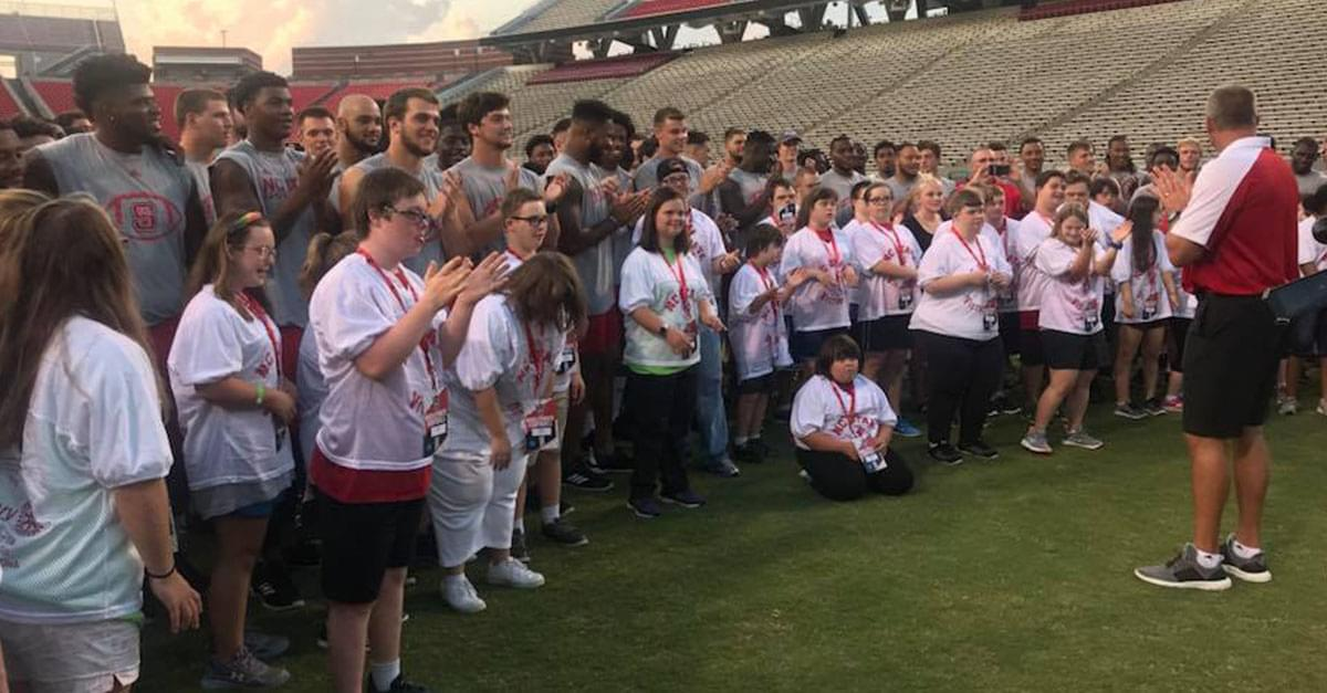 Wolfpack Gets Help from Players with Down Syndrome