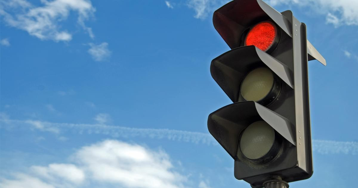 What do you do if the traffic lights are out?