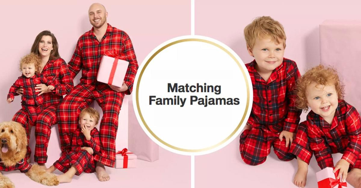 Target Releases Matching Holiday Pajamas For Your Entire Family