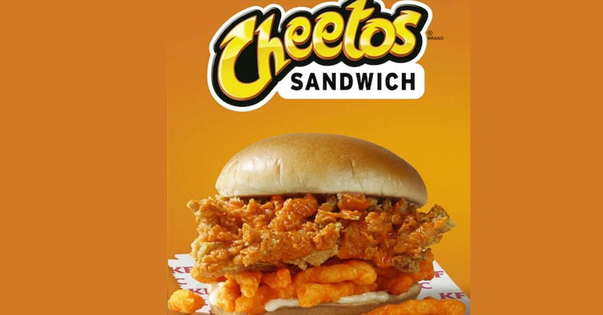 KFC's Cheetos Chicken Sandwich Is Being Tested in NC