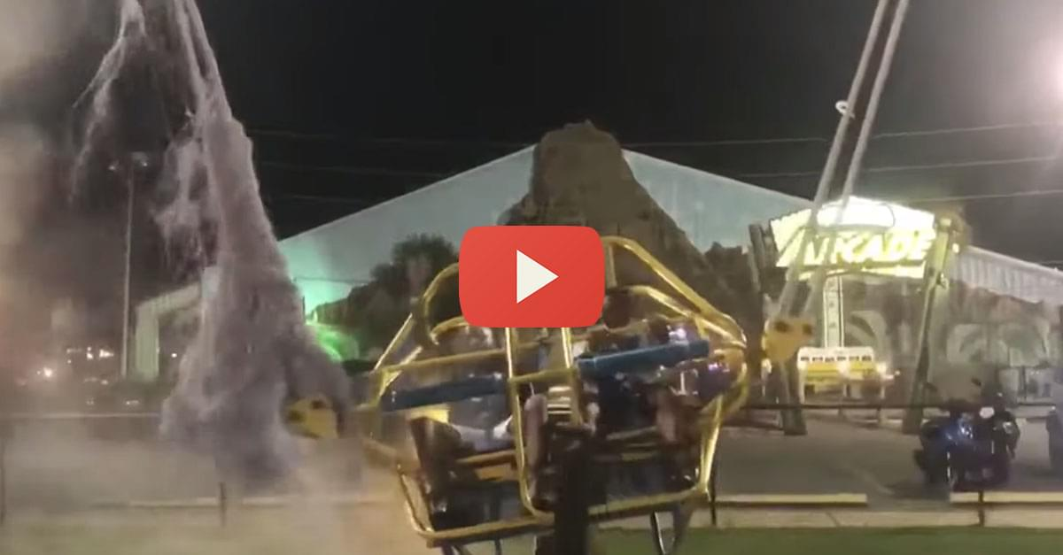 Watch: Bungee Cord Snaps on Slingshot Ride at Amusement Park