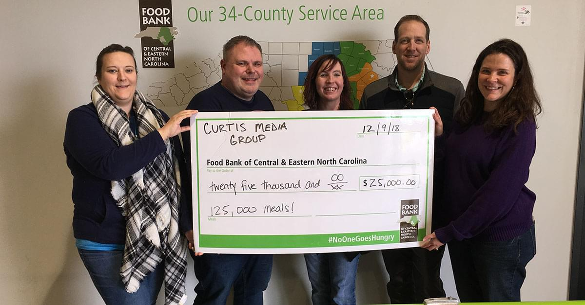 You helped us donate 125,000 meals to the Food Bank of Central and Eastern NC!