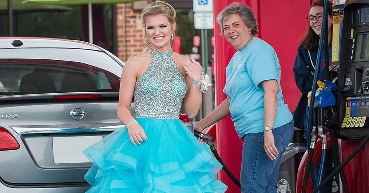 Fairy Godmother Helps NC Teen Pump Gas before Prom