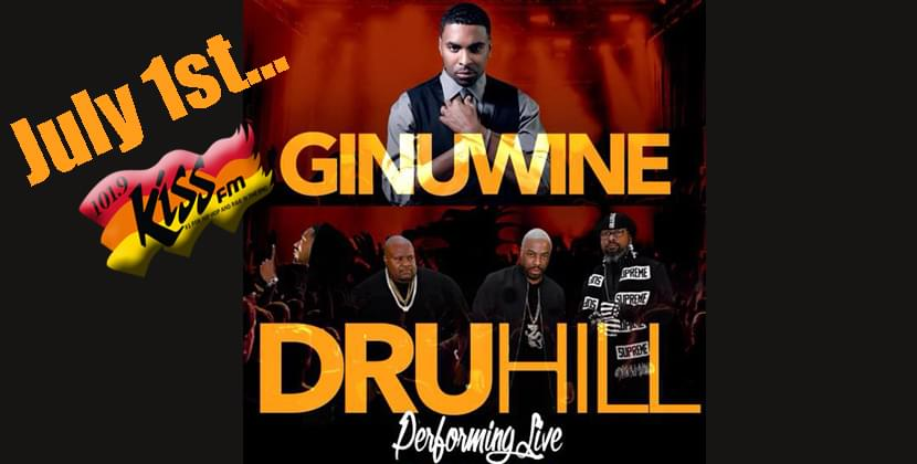 Dru Hill and Ginuwine Performing Live at the Greenville Convention Center