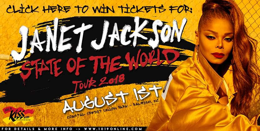 101.9 Kiss FM Giving You Tickets To See Janet Jackson August 1st….