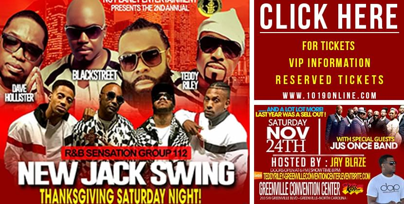 Backstreet, 112, Teddy Riley & Dave Hollister Coming to Greenville Saturday Nov. 24th, Thanksgiving Saturday!