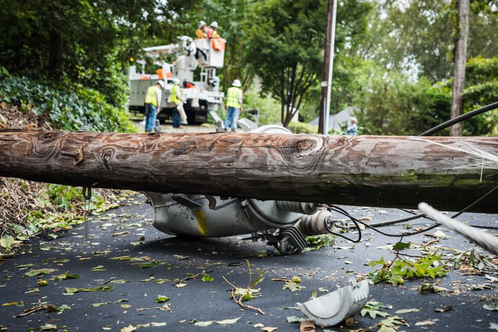 Power Restored to most than 17,000 Customers in New Bern After Strong Winds Caused Outage