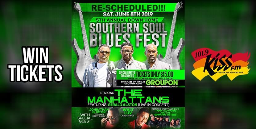 Win Tickets To The 5th Annual Down Home Southern Soul Blues Fest