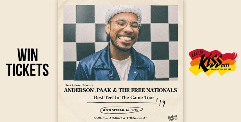 Win Tickets To Anderson.Paak & The Free Nationals!