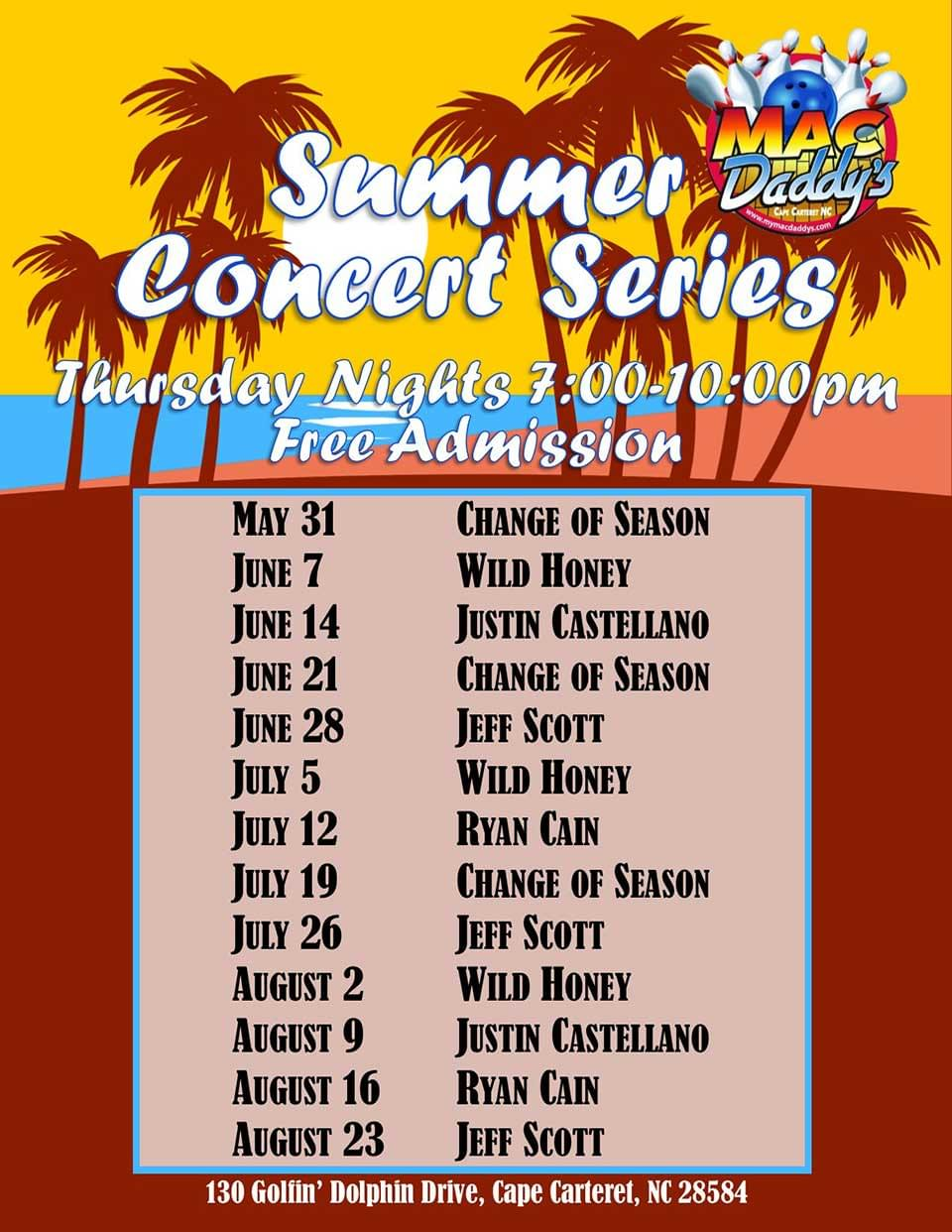 MacDaddy's Summer Concert Series
