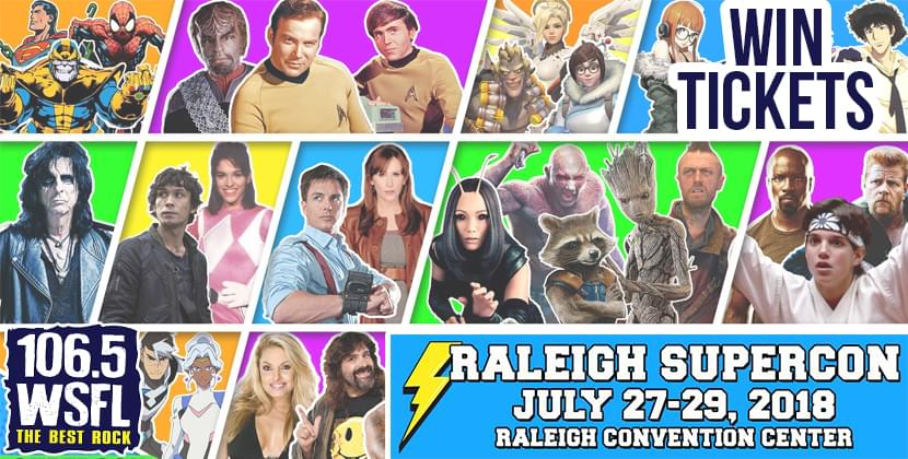 Win Tickets To Raleigh Supercon