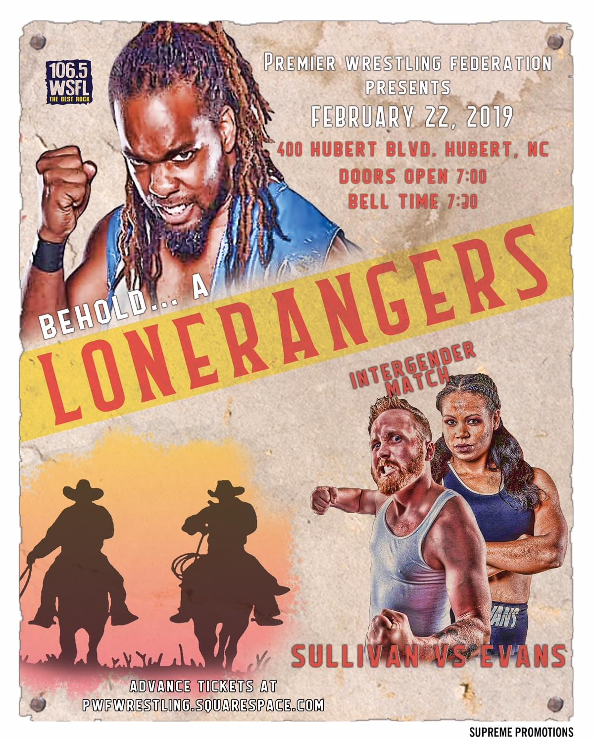"WSFL and Premier Wrestling Federation Present ""Behold! The Lonerangers!"""