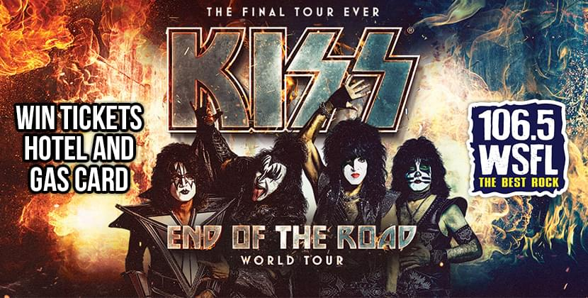 Win Tickets, Hotel & Gas Card For Kiss