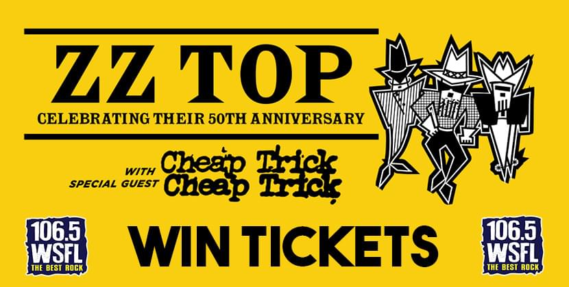 Win Tickets For ZZ Top & Cheap Trick in Raleigh!