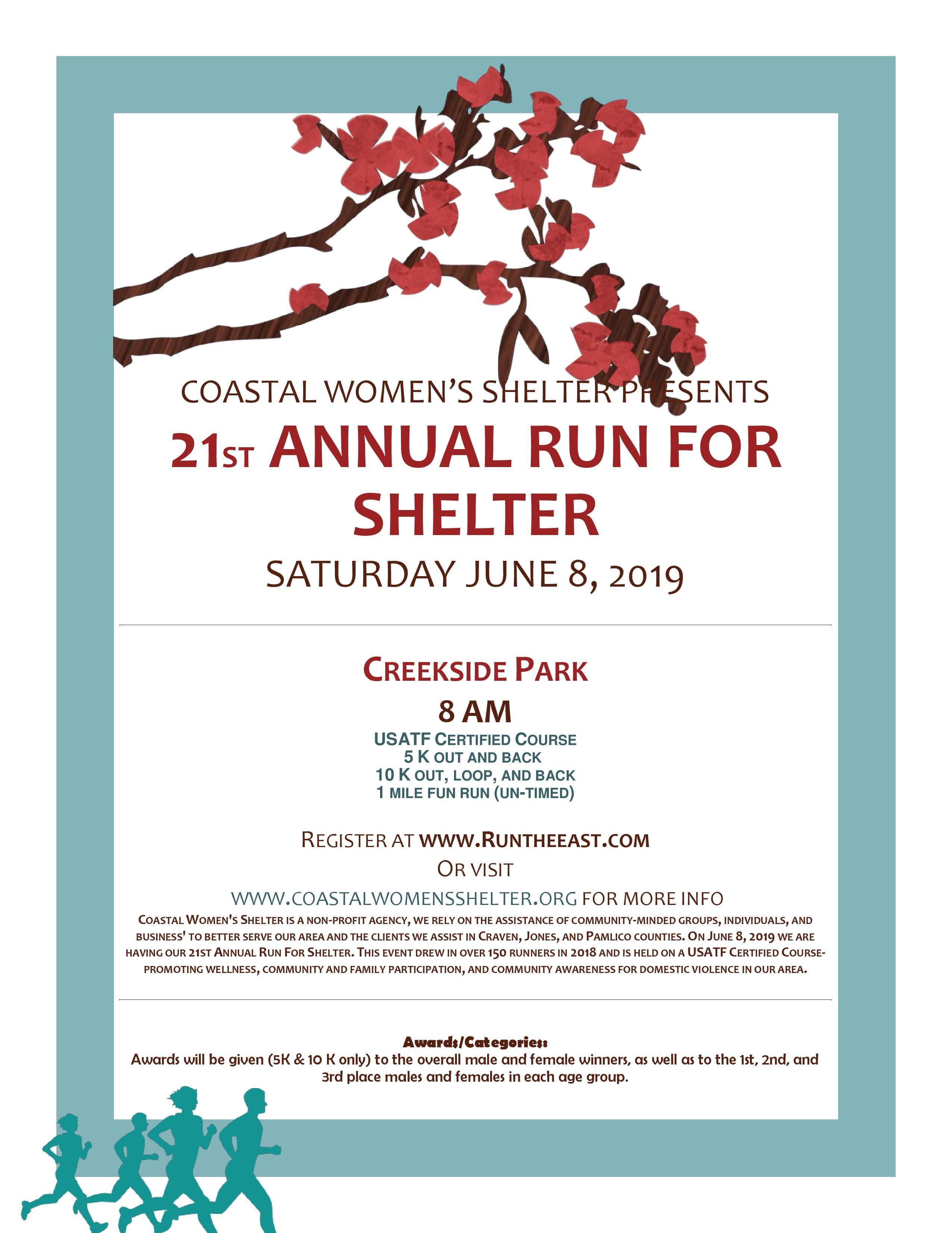 21st Annual Run For Shelter