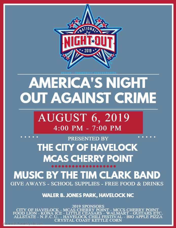 City of Havelock and MCAS Cherry Point National Night Out