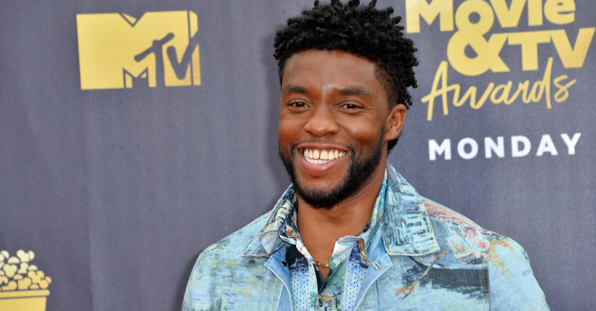 Chadwick Boseman gives his MTV Award to a real hero