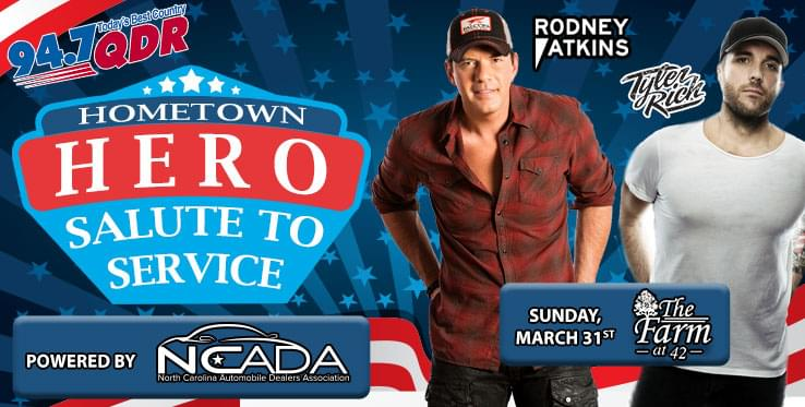 """QDR's Hometown Heroes """"Salute To Service"""" presented by The North Carolina Auto Dealers Association"""