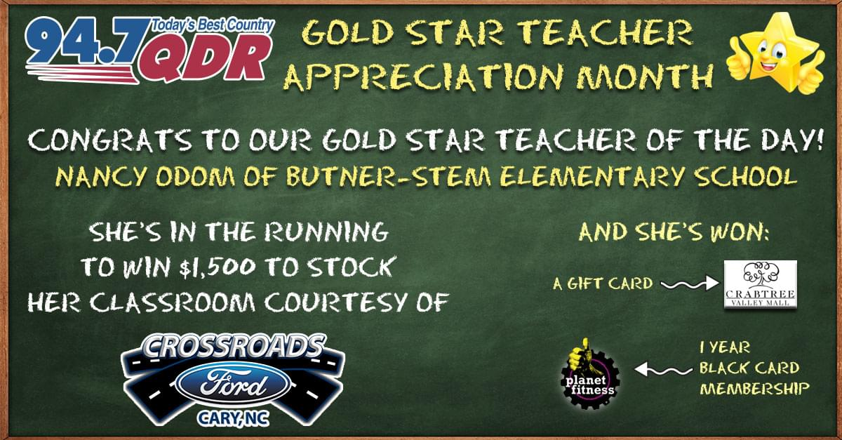 Gold Star Teacher Appreciation Month: Nancy Odom