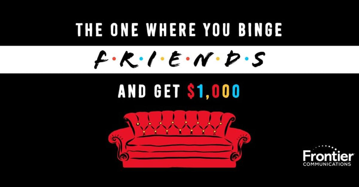 'Friends' Fan? Watch 25 hrs of the show and you could win $1,000!