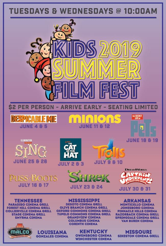 Malco Theatres / KIDS SUMMER FILM FEST