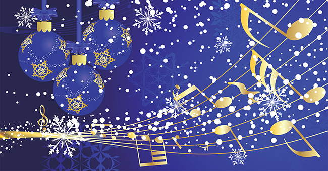 Christmas Music - Blue-Gold - Rotator